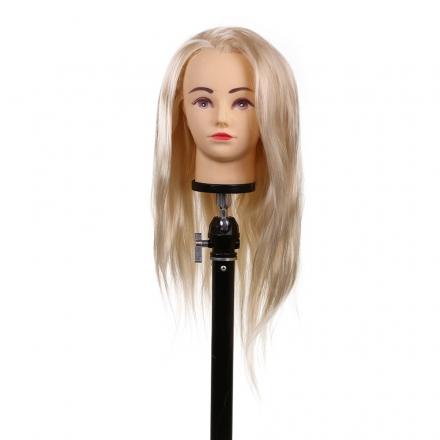 Cap pentru practica 30 cm, blond,par sintetic