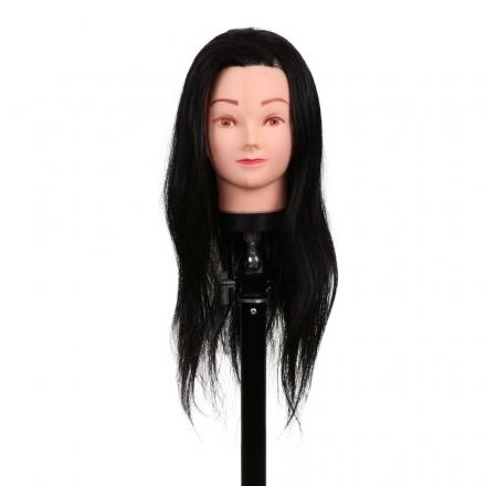 Cap pentru practica 30 cm, negru,par sintetic