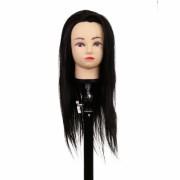 Cap pentru practica 40 cm, negru, par sintetic