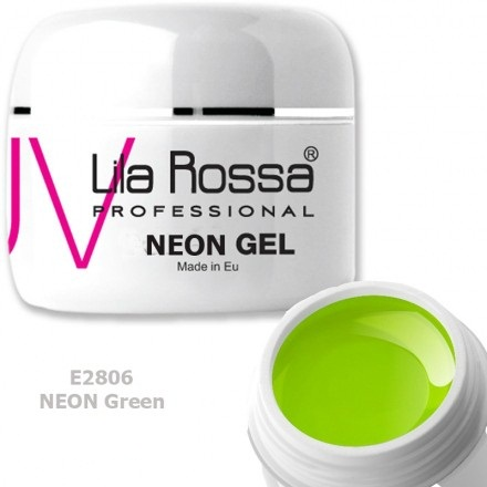 Gel color profesional Neon 5g Lila Rossa - Neon Green