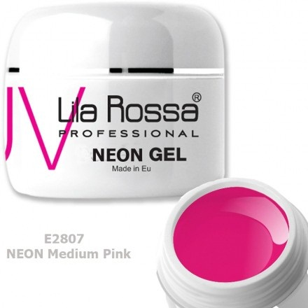 Gel Color Profesional Neon 5g Lila Rossa Neon Medium Pink Geluri Uv
