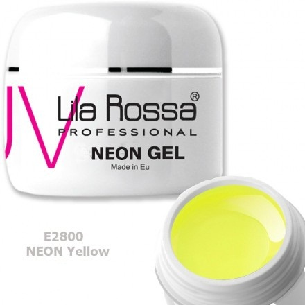 Gel color profesional Neon 5g Lila Rossa - Neon Yellow