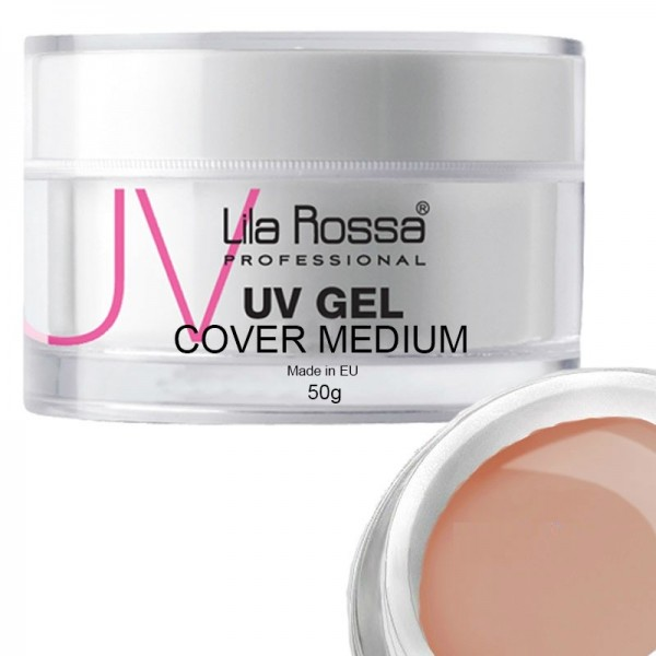 Gel uv cover medium profesional 50 g Lila Rossa
