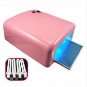 Lampa UV 36W PINK + 4 neoane pentru unghii perfecte