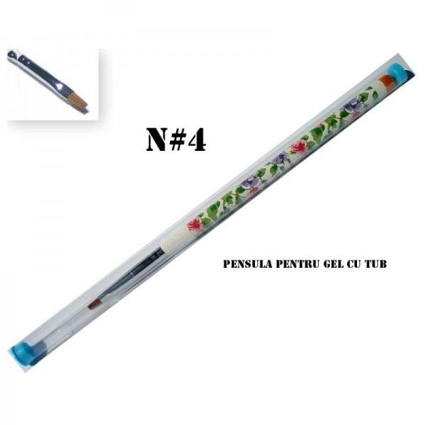 Pensula gel cu tub - Nr. 04