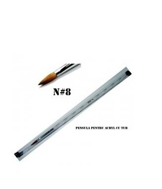 Pensula pentru acril cu tub - N#8