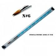 Pensula pentru acril cu tub - Nr. 6