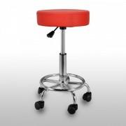 Scaun pentru cosmetica cu structura din metal - Rosu