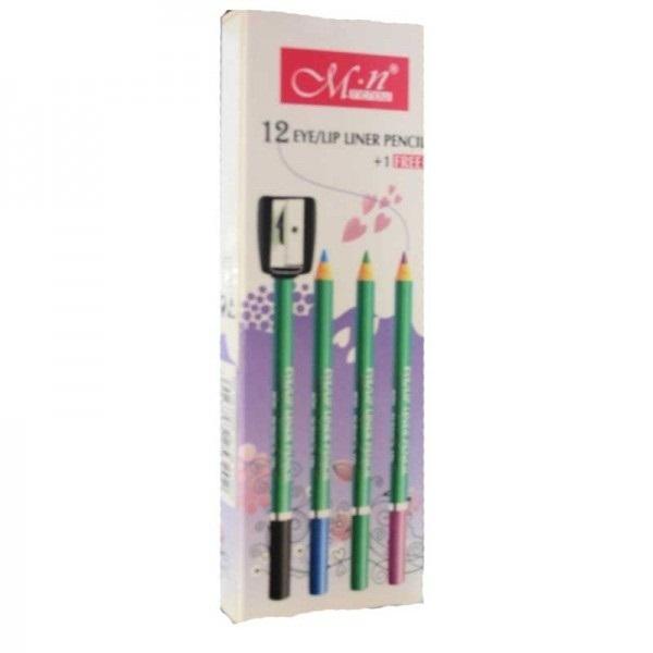 Set 12 + 1 Creioane MN diverse culori