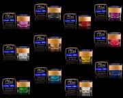 Set 12 buc Gel UV Colorate cu Sclipici