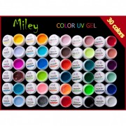 Set 30 geluri colorate mate Miley
