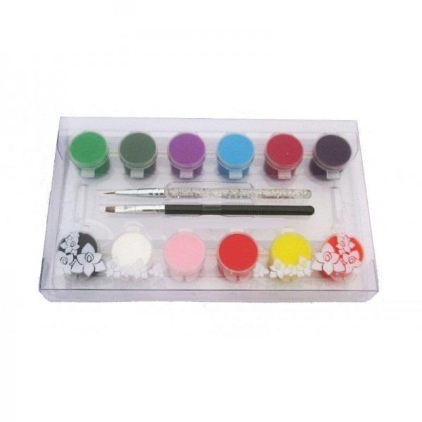Vopsele acrilice OUMAXI + 2 pensule